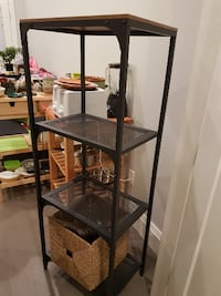 Ikea kitchen island (small) and Ikea shelving for sale!  VANCOUVER