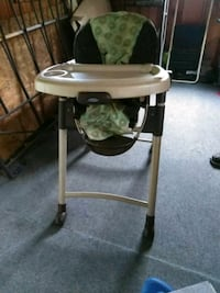 white and black highchair