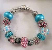 Pink and Blue charm bracelet 2 for $25 Baltimore, 21224