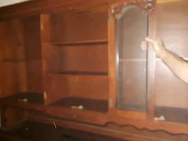 Filipino hand carved Norwood 1978 credenza and Hutch all hand-carved