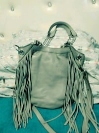 women's gray leather shoulder bag Moriarty, 87035