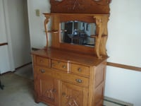 Oak Buffet w/ Mirror Gorham