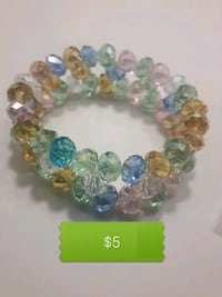 BN three row crystal bracelet stretchy 3747 km