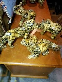 Animal print sculptures [part of a collection )see 422 mi