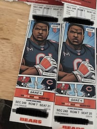 Chicago Bears tickets  Orland Park, 60462