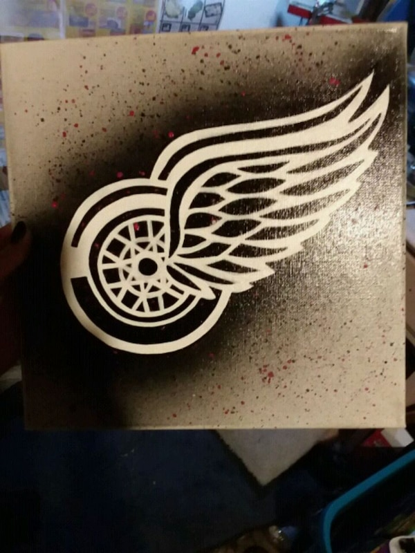 Detroit red wing canvas art