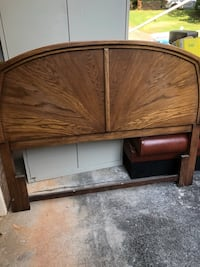 Full size Brown wooden headboard and footboard Stone Mountain, 30087