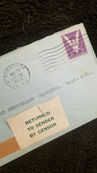 WW II censored envelope  Henderson, 89014