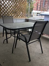 Rectangular glass-top patio table with 2-chairs Kelowna, V1Y