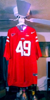 red and white NFL jersey Cincinnati, 45239