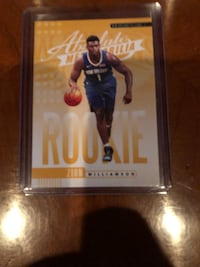 Zion Williamson RC 2019-20 Absolute Memorabilia Yellow SP RC and base