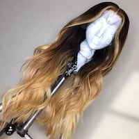 Body weave high lighted lace front human hair wig