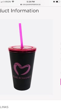 Pure romance drink mug with straw Surrey, V3R