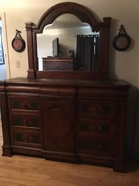 brown wooden dresser with mirror Ottawa, K1Z 6E3