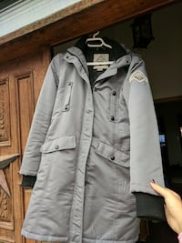 Warm winter coat, with hood. Size small