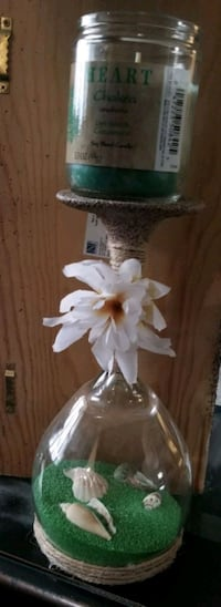 wineglass candle holder