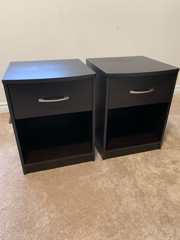 2 Black Night Stands-great condition afa5d66e-0fd6-4331-946c-909efff9a233