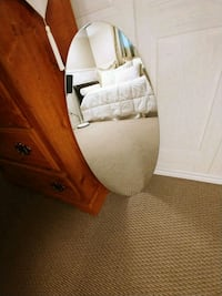 OVAL MIRROR/CLOTHES HANGER!!!!