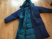 Ladies down long coat, down, very warm size 14 - $60