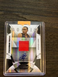 Stephen Curry RC Auto Card