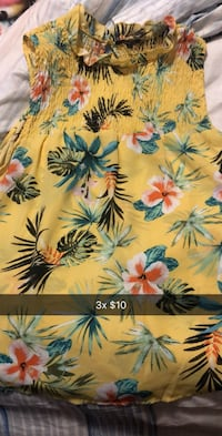 yellow and blue floral textile Tulsa, 74135