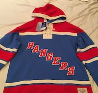 Rangers hoody blue, red, and white jersey shirt-Size-Large New York, 11357