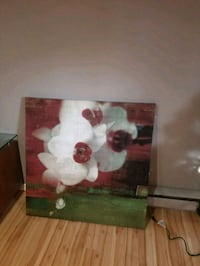 white and pink flowers painting Boisbriand, J7H 1H3