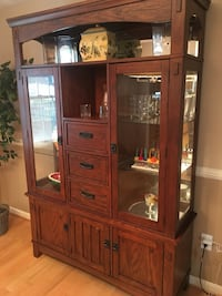 Brown wooden framed glass display cabinet Olney, 20832