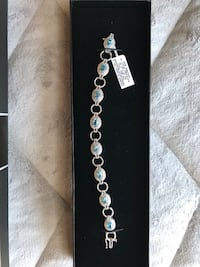 New sterling silver blue topaz diamond accent bracelet Arlington, 22206