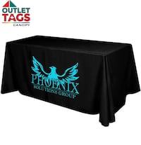 ( OUTLETTAGS  CANOPY  )  CUSTOM  TABLE COVER