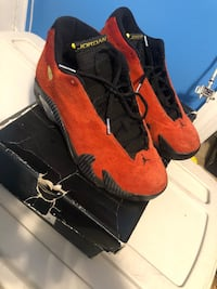 pair of black-and-red Air Jordan shoes Hyattsville, 20782