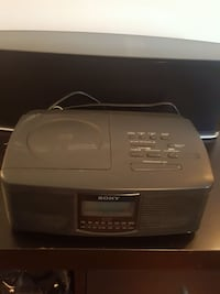 black Sony CD player alarm clock & speaker in one Oakville, L6J 7P8