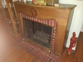 Fake fire.place solid wood