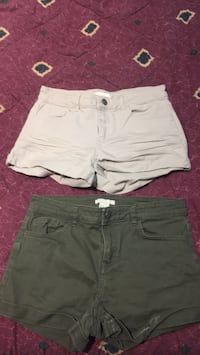 2 shorts one green and one pastel from H.M Toronto, M9V