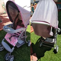 baby's pink and black travel system Las Vegas, 89128