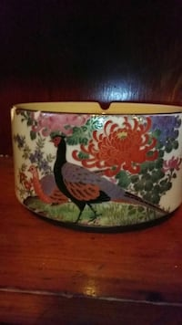 vintage turkey and blossom large ash tray