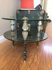 "Very Unique 60s / 70s Ornate End Table 22""D x 17""H Henderson, 89052"