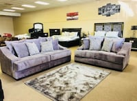 gray and purple living room set Houston, 77092