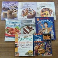 8 Cookbooks - Baking, Gluten Free, etc