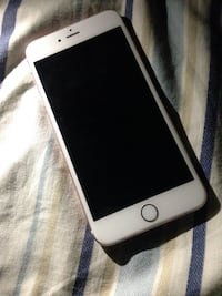 Silver iPhone 6s Plus  with black case Montreal