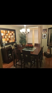 Dining room set, Buffet & ceramic picture