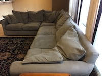 PRICE REDUCTION - Suede Sectional Sofa Sammamish, 98075
