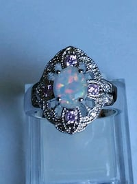 White FireOpal with Pink CZ.sz  8 Mount Pleasant, 48858