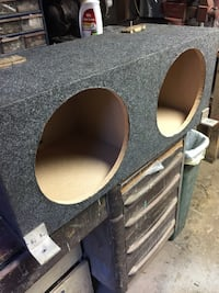 Gray subwoofer enclosure
