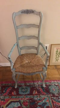 Light, pastel blue wooden armchair Bethesda, 20814