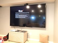 "90"" Black Sharp flat screen tv"