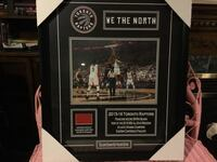 Framed picture Toronto Raptors We The North/exclusive season seat holder edition 2015-16 season   Certificate of Authenticity $400. St Catharines, L2P 3K9