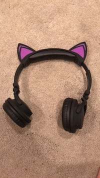 Black and purple Bluetooth cat ear headphones  Holbrook, 11741
