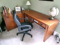 Oak desk and office chair