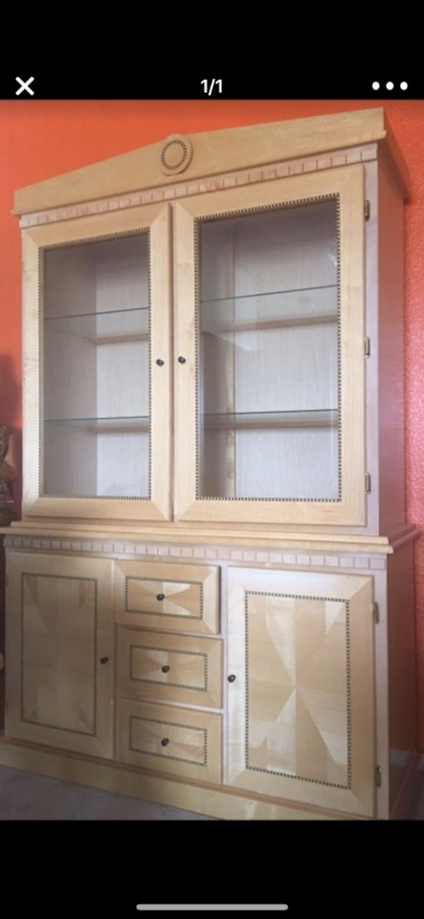 Scandalvaian Style China Cabinet Purchased From Thomasville Furniture